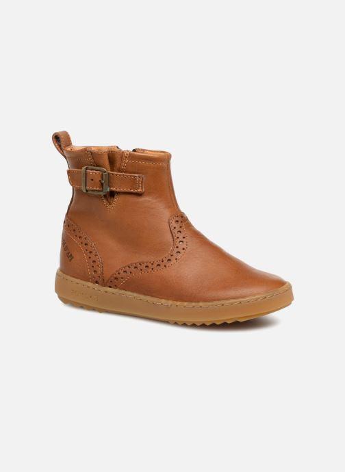 Ankelstøvler Pom d Api Wouf Boots Brun detaljeret billede af skoene