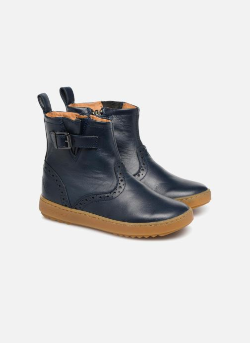 Bottines et boots Pom d Api Wouf Boots Bleu vue 3/4