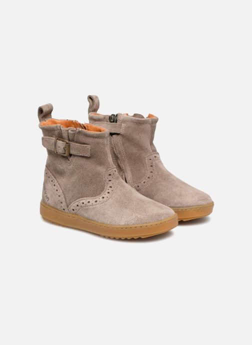 Ankle boots Pom d Api Wouf Boots Brown 3/4 view