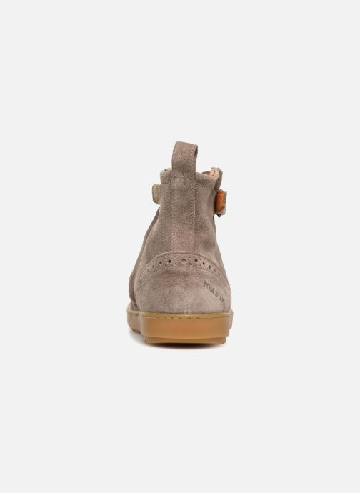 Ankle boots Pom d Api Wouf Boots Brown view from the right