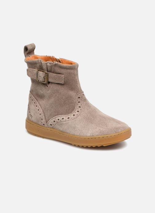 Ankle boots Pom d Api Wouf Boots Brown detailed view/ Pair view