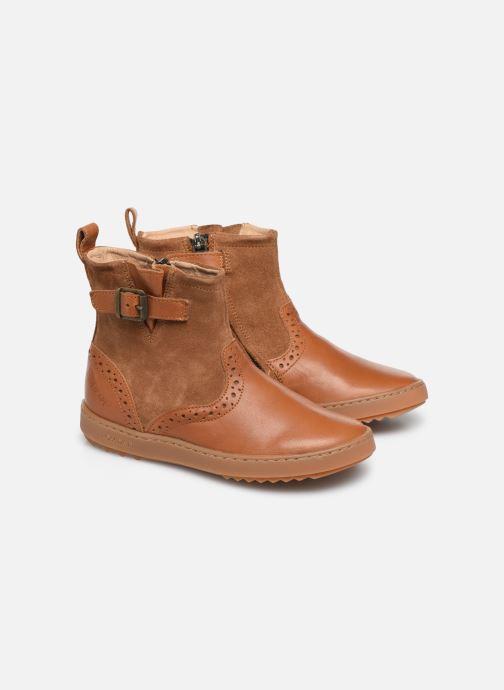 Bottines et boots Pom d Api Wouf Boots Marron vue 3/4