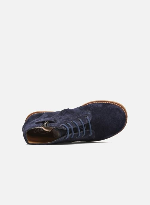 Boots en enkellaarsjes Pom d Api Pat Brogue Blauw links