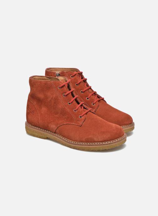 Ankle boots Pom d Api Pat Brogue Orange 3/4 view