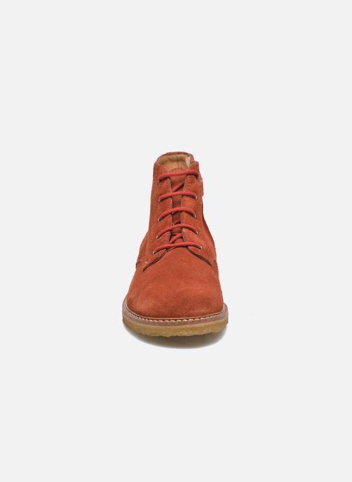 Ankle boots Pom d Api Pat Brogue Orange model view