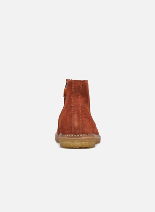 Ankle boots Pom d Api Pat Brogue Orange view from the right