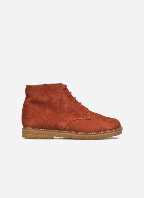 Ankle boots Pom d Api Pat Brogue Orange back view