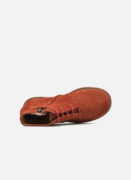 Ankle boots Pom d Api Pat Brogue Orange view from the left