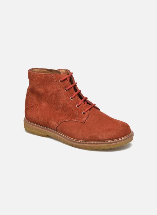 Ankle boots Pom d Api Pat Brogue Orange detailed view/ Pair view