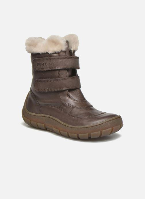 Støvler & gummistøvler Pom d Api Piwi Fur Vel Brun detaljeret billede af skoene
