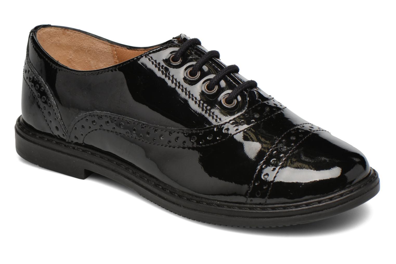 Snøresko Pom d Api City Richelieu Sort detaljeret billede af skoene
