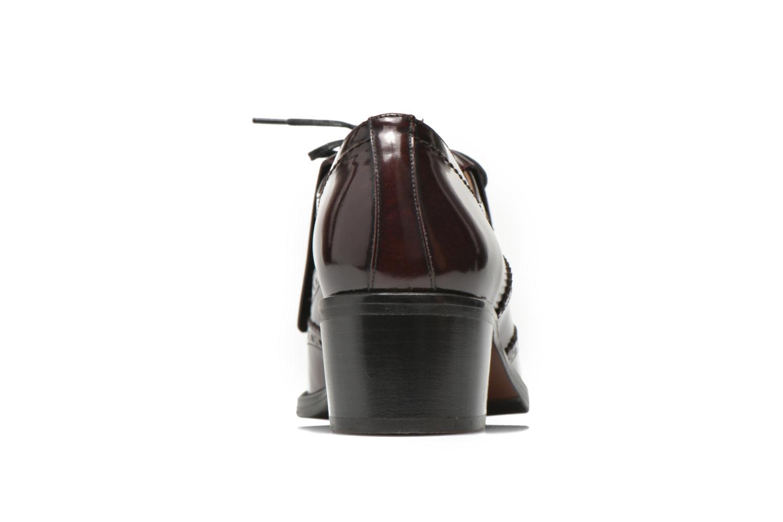 Chaussures à lacets Georgia Rose Parafrange Bordeaux vue droite