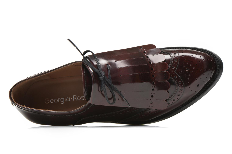 Chaussures à lacets Georgia Rose Parafrange Bordeaux vue gauche