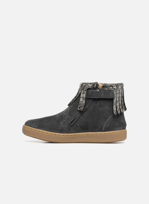 Ankle boots Shoo Pom Play Fringe Grey front view