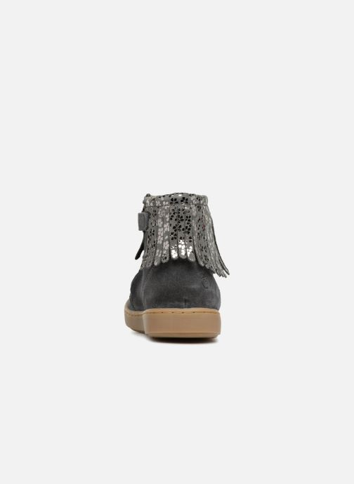 Ankle boots Shoo Pom Play Fringe Grey view from the right