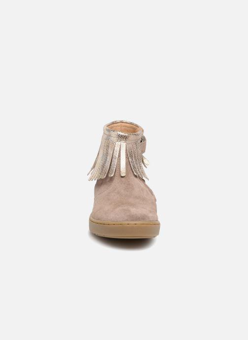 Ankle boots Shoo Pom Play Fringe Beige model view
