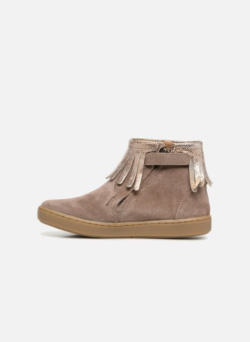 Ankle boots Shoo Pom Play Fringe Beige front view