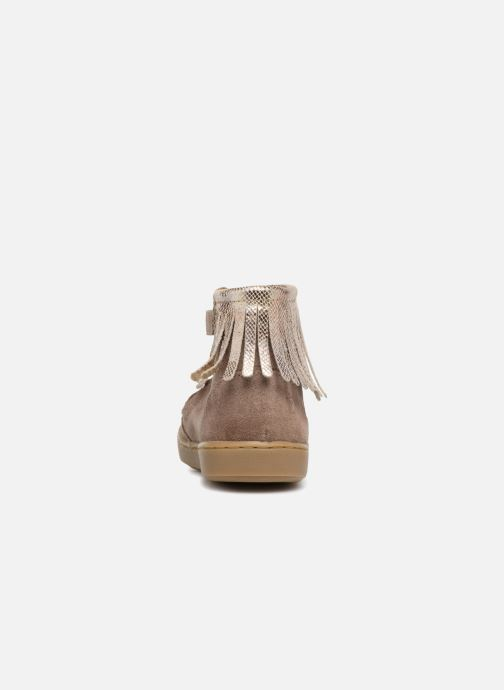 Ankle boots Shoo Pom Play Fringe Beige view from the right
