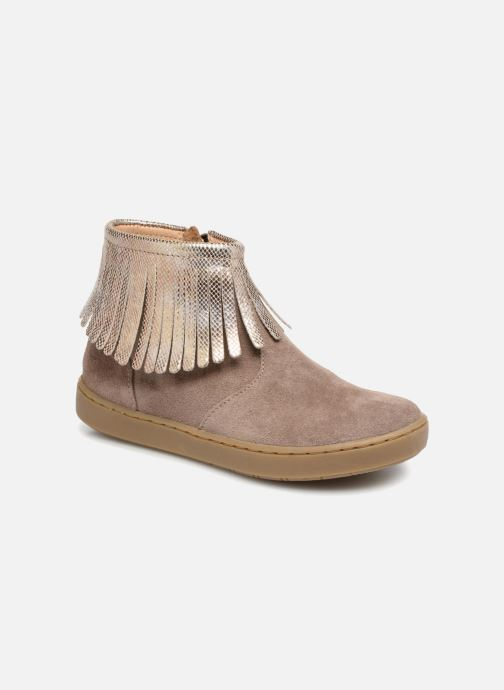 Ankle boots Shoo Pom Play Fringe Beige detailed view/ Pair view