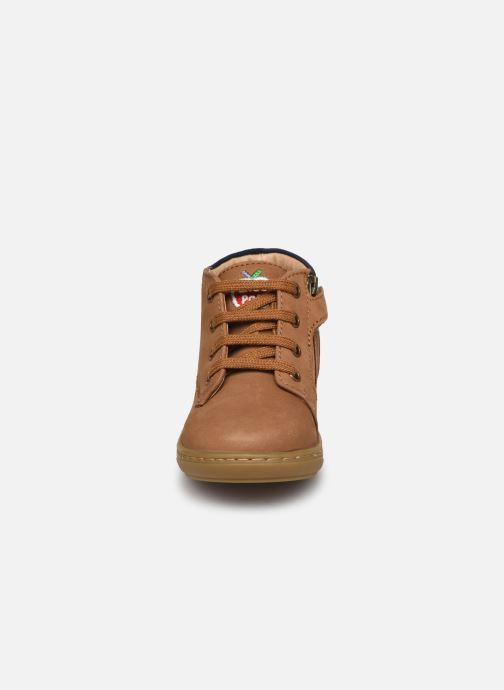 Bottines et boots Shoo Pom Bouba Zip Desert Marron vue portées chaussures