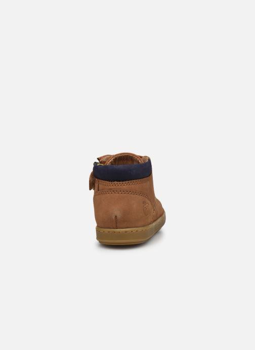 Bottines et boots Shoo Pom Bouba Zip Desert Marron vue droite