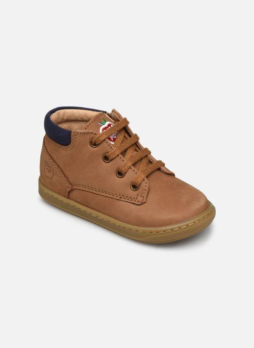 Bottines et boots Shoo Pom Bouba Zip Desert Marron vue détail/paire
