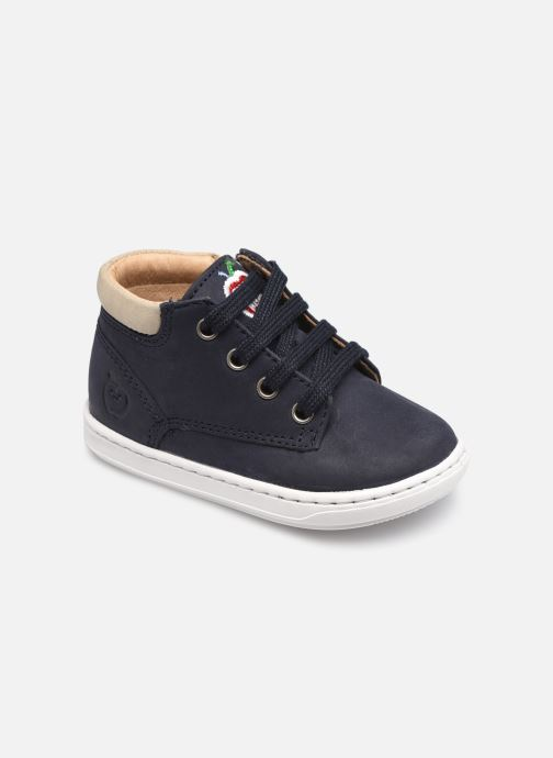 Bottines et boots Shoo Pom Bouba Zip Desert Bleu vue détail/paire