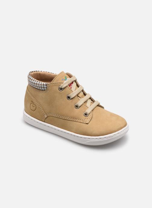Bottines et boots Shoo Pom Bouba Zip Desert Beige vue détail/paire