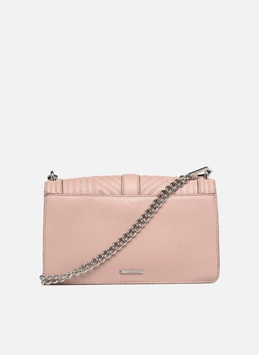 Sacs à main Rebecca Minkoff Geo quilted Love Crossbody Rose vue face