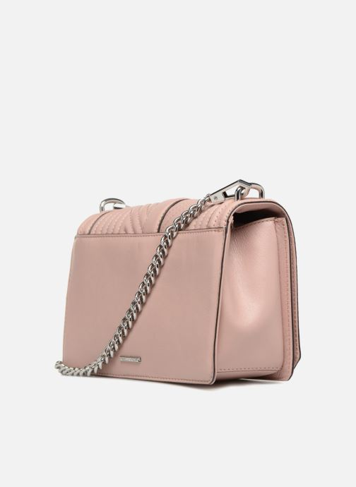 Sacs à main Rebecca Minkoff Geo quilted Love Crossbody Rose vue droite