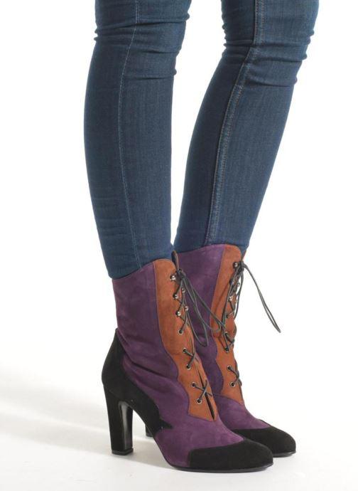 Bottines et boots Anna Volodia Aurora Multicolore vue bas / vue portée sac