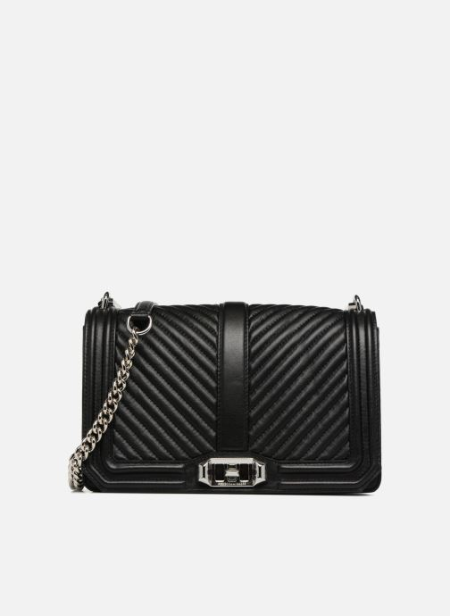 Handtassen Rebecca Minkoff Chevron Quilted Love Crossbody Zwart detail