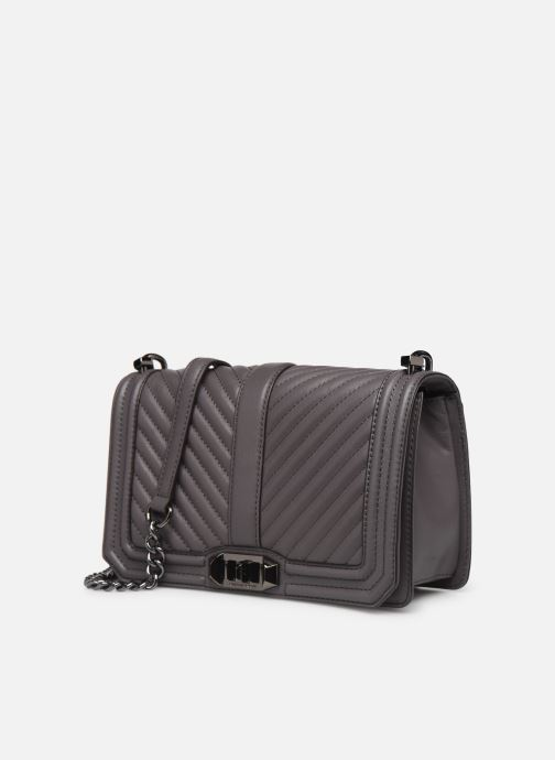 Handtassen Rebecca Minkoff Chevron Quilted Love Crossbody Grijs model
