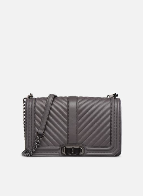 Handtassen Rebecca Minkoff Chevron Quilted Love Crossbody Grijs detail