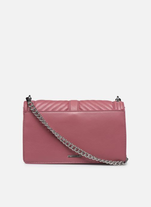 Bolsos de mano Rebecca Minkoff Chevron Quilted Love Crossbody Rosa vista de frente