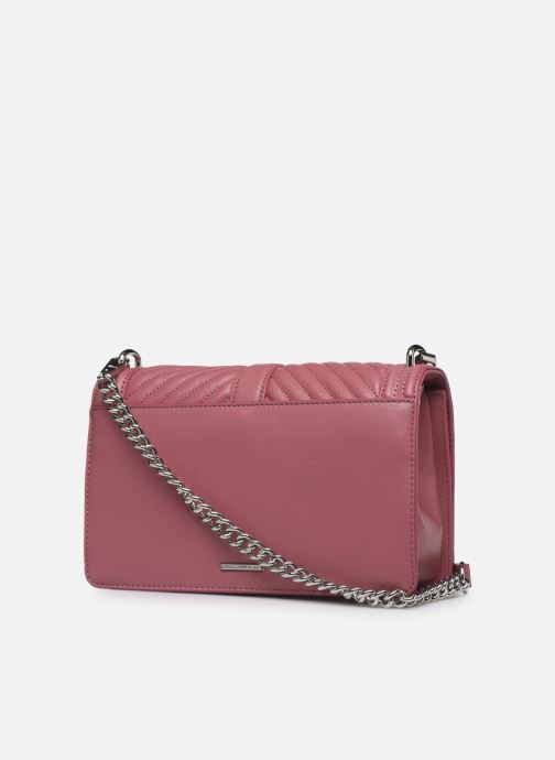 Sacs à main Rebecca Minkoff Chevron Quilted Love Crossbody Rose vue droite