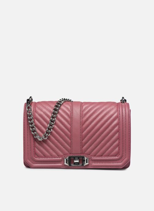 Sacs à main Rebecca Minkoff Chevron Quilted Love Crossbody Rose vue détail/paire