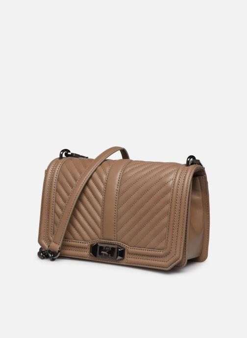 Handtaschen Rebecca Minkoff Chevron Quilted Love Crossbody beige schuhe getragen