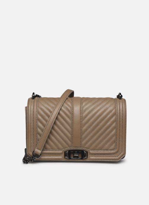 Handtaschen Rebecca Minkoff Chevron Quilted Love Crossbody beige detaillierte ansicht/modell