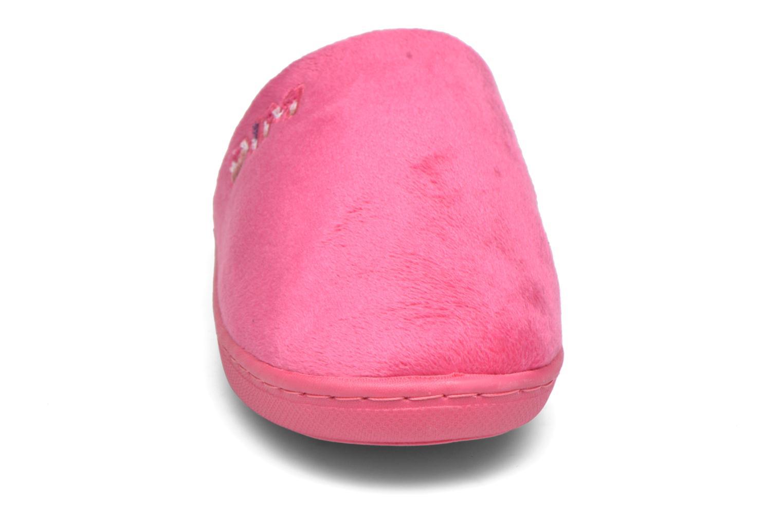 Chaussons Dim D Taylor Rose vue portées chaussures