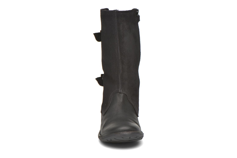 Bottes Kickers Groopie Noir vue portées chaussures