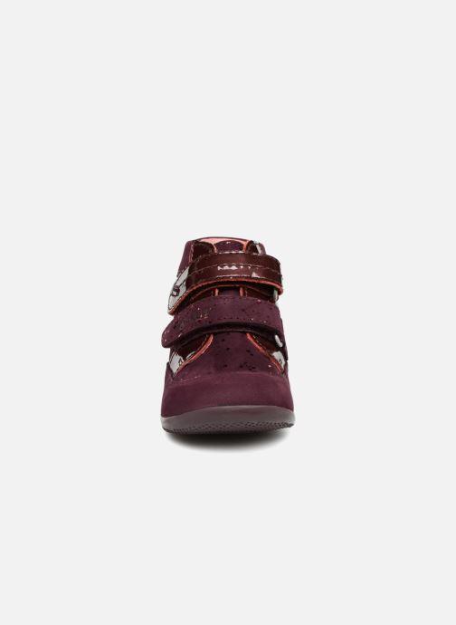 Bottines et boots Kickers Biliana Bordeaux vue portées chaussures