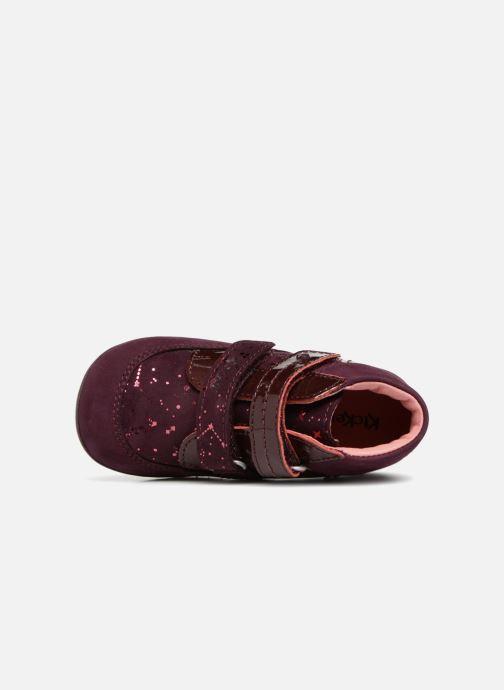Bottines et boots Kickers Biliana Bordeaux vue gauche