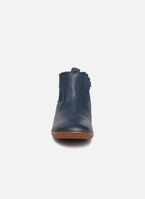 Bottines et boots Kickers Vermillon Bleu vue portées chaussures