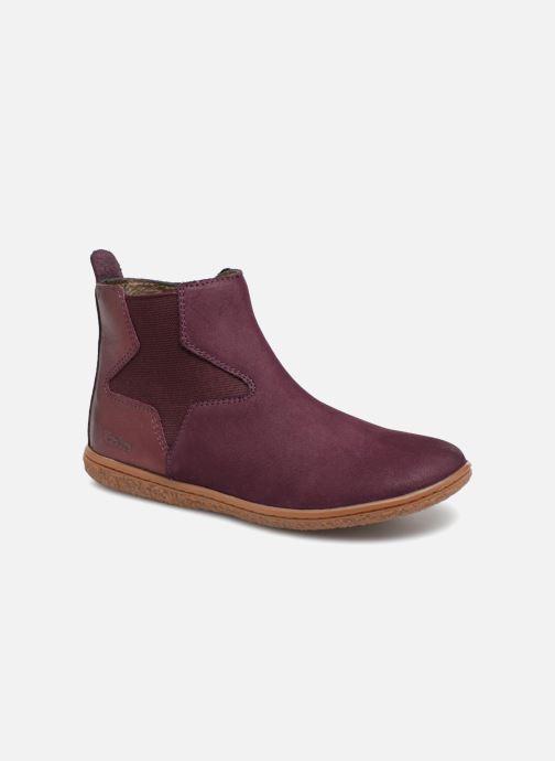 Bottines et boots Kickers Vermillon Bordeaux vue détail/paire