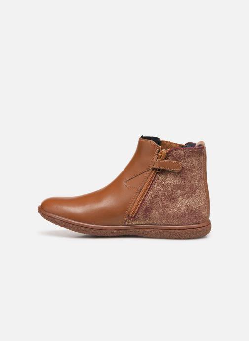 Boots en enkellaarsjes Kickers Vermillon Bruin voorkant