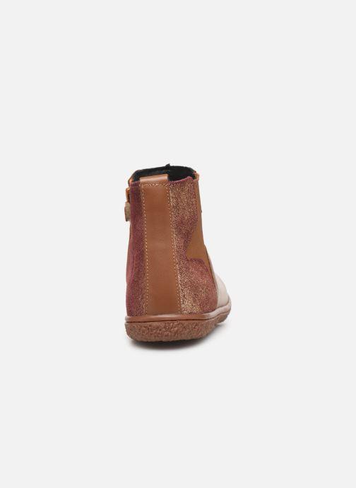 Boots en enkellaarsjes Kickers Vermillon Bruin rechts
