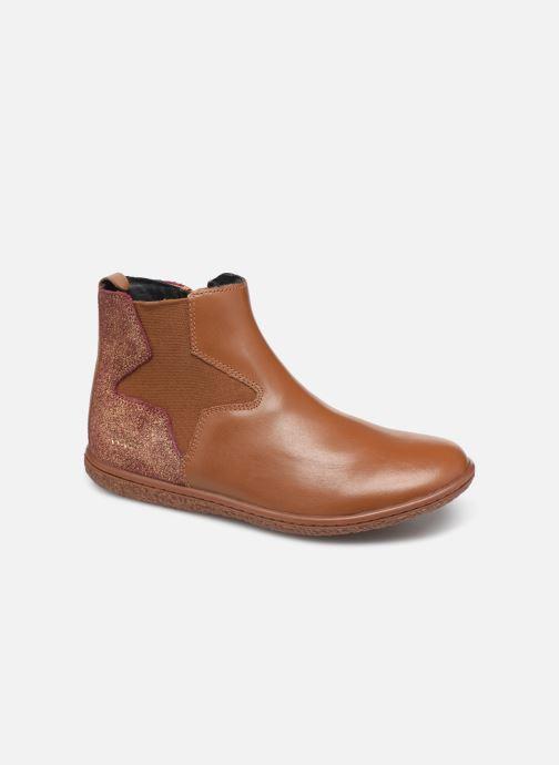 Boots en enkellaarsjes Kickers Vermillon Bruin detail