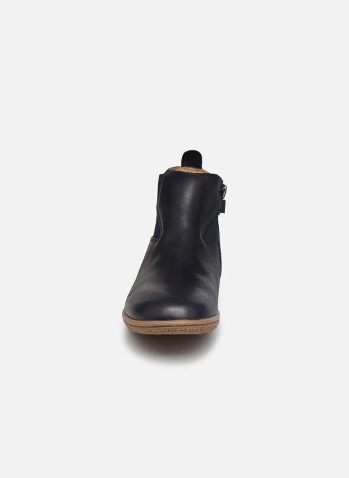 Stiefeletten & Boots Kickers Vermillon blau schuhe getragen
