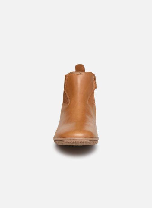 Stiefeletten & Boots Kickers Vermillon braun schuhe getragen